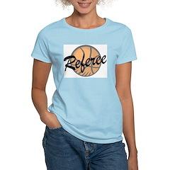 Basketball Ref Women's Pink T-Shirt