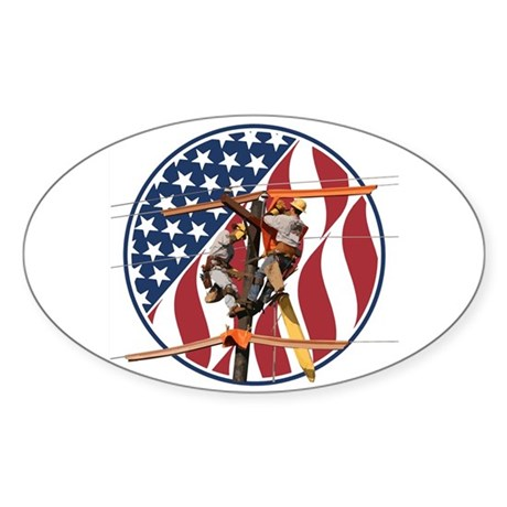 USA Lineman Sticker