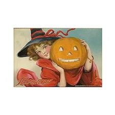 Vintage Halloween Postcard Witch Frances Brundage