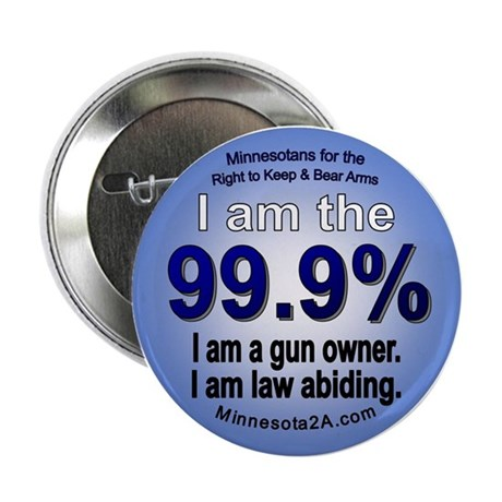 "I am the 99.9% - MN 2.25"" Button (100 pack)"