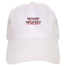 What Do We Want? Time Travel! Baseball Cap