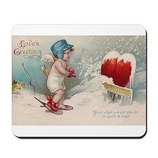Vintage Valentine image cold Valentine heart Mouse