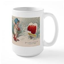 Vintage Valentine image cold Valentine heart Mug