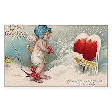 Vintage Valentine image cold Valentine heart Stick