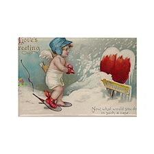Vintage Valentine image cold Valentine heart Recta