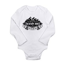 Jackson Hole Mountain Emblem Long Sleeve Infant Bo