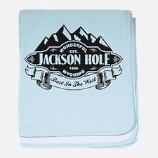Jackson Hole Mountain Emblem baby blanket