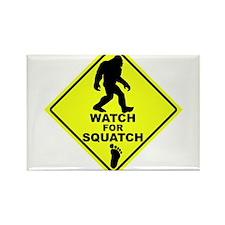 Watch fot Squatch Rectangle Magnet