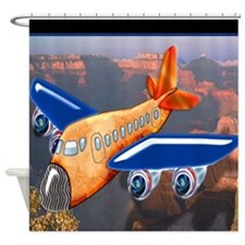 Airplane Over Grand Canyon Shower Curtain