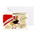 Happy Birthday woman at red piano Greeting Card