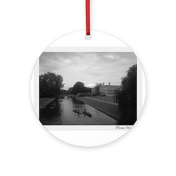 Cambridge Black & White Collection Ornament (Round