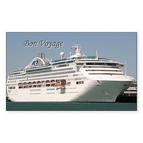Bon Voyage: cruise ship Sticker (Rectangle)