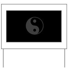 Yin Yang Design Yard Sign