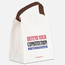 DEFEND YOUR CONSTITUTION Canvas Lunch Bag