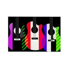 Abstract Rainbow Guitars Rectangle Magnet