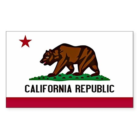 California Flag Sticker (Rectangle)