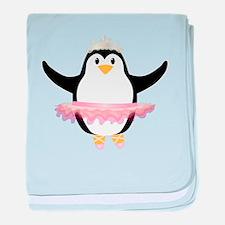 Ballerina Penguin baby blanket