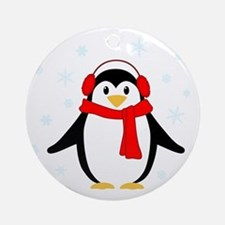 Winter Penguin Ornament (Round)