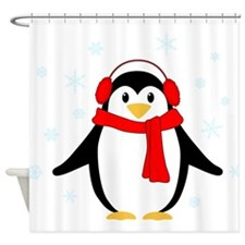Winter Penguin Shower Curtain