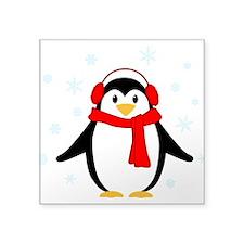 """Winter Penguin Square Sticker 3"""" x 3"""""""