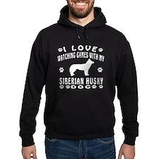Siberian Husky design Hoodie
