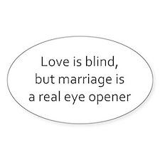 love is blind marriage eye opener Decal