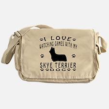 Skye Terrier design Messenger Bag