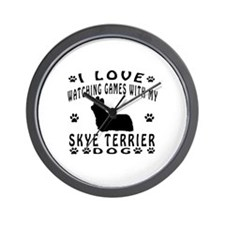 Skye Terrier design Wall Clock