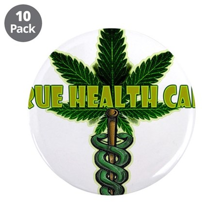 "True Health Care 3.5"" Button (10 pack)"