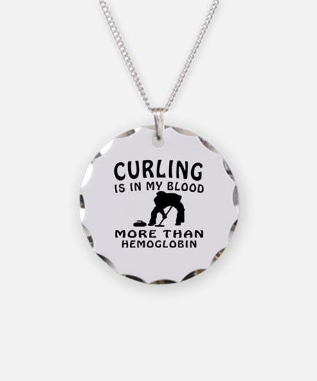Curling Designs Necklace