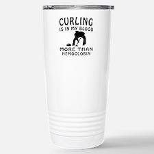 Curling Designs Travel Mug