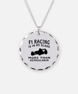 Formula one Racing Designs Necklace Circle Charm