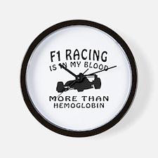 Formula one Racing Designs Wall Clock
