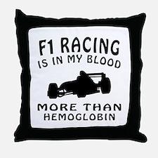 Formula one Racing Designs Throw Pillow