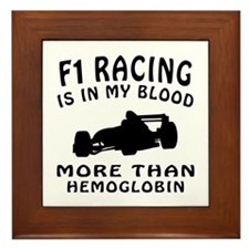 Formula one Racing Designs Framed Tile