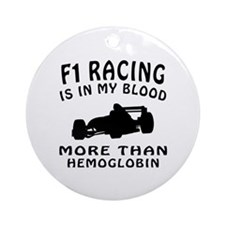 Formula one Racing Designs Ornament (Round)