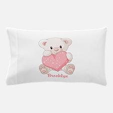 Custom name valentine bear Pillow Case
