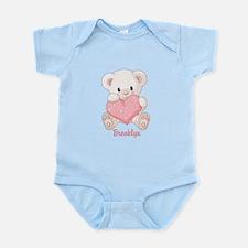 Custom name valentine bear Infant Bodysuit