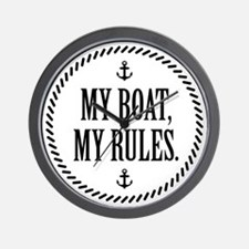 My Boat, My Rules Wall Clock