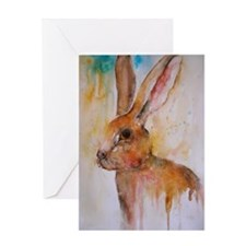 Solo Hare ~ Single Greeting Card