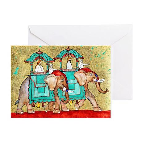 2 Elephants ~ Single Greeting Card