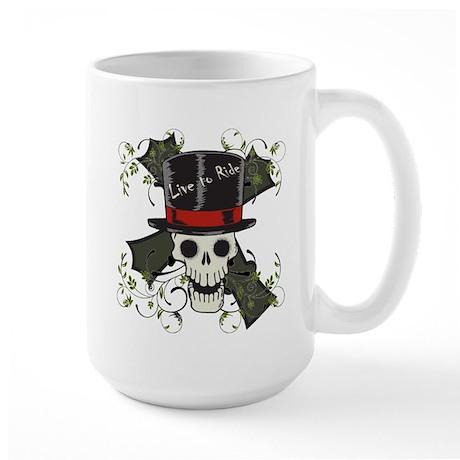 TOP HAT-SKULL CROSS Large Mug