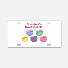 Custom Grand kids sweethearts Aluminum License Pla