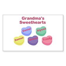 Custom Grand kids sweethearts Bumper Stickers