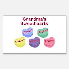 Custom Grand kids sweethearts Decal