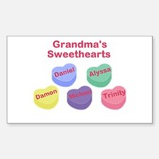 Custom Grand kids sweethearts Sticker (Rectangle)