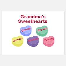 Custom Grand kids sweethearts 3.5 x 5 Flat Cards