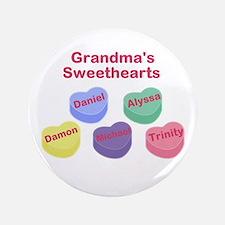 "Custom Grand kids sweethearts 3.5"" Button"