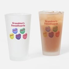 Custom Grand kids sweethearts Drinking Glass