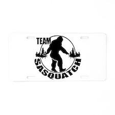 Team Sasquatch Aluminum License Plate